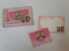 After Hello Kitty, I fell totally in love with Bobby & Kate! I used to have this stationary set...