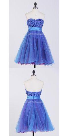 A-ling Short Mini Party Dress Bling Bling Beaded Zipper Back Bridesmaid Dress  #shortbridesmaiddress
