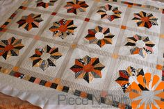 Dresden Halloween quilt, made by Cheryl!