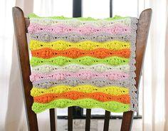 Crochet Baby Blanket Crochet Wave Blanket by MyBeautifulStuff