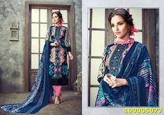Blue Colour SemiStitched Salwar Suit  #style #fashion #treandyfashion #womenfashion #trends #lovefashion
