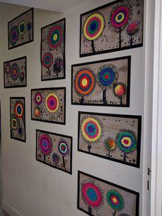 Art Kandinsky, Collaborative Art Projects For Kids, Art Zen, 6th Grade Art, Ecole Art, Art N Craft, Art Club, Art Plastique, Elementary Art