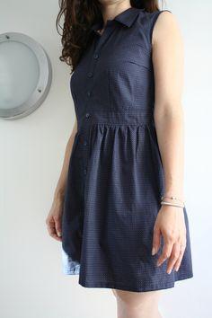 Jolie robe à partir de Bruyère avec des fronces à la place des plis