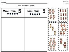 KINDERGARTEN CUT AND PASTE COMMON CORE MATH PRACTICE- BY MONTH - TeachersPayTeachers.com