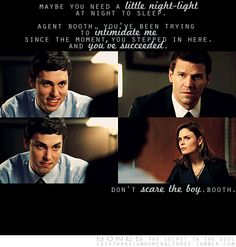 Booth and Bones first meet Sweets.