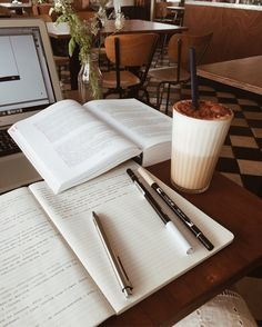 study aesthetic studying - study - bts - back to school - coffee - tombow - brush pens - school - - inspiration - motivation - studyblr - goals - learning - college - high school - macbook - notes - inspo Study Desk, Study Space, Studyblr, Study Organization, School Study Tips, School Goals, Pretty Notes, Coffee And Books, Coffee Study