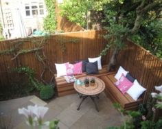 Small garden design visual for London garden Contemporary Urban
