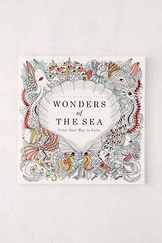 Wonders Of The Sea: Color Your Way To Calm By Claire Laude & Aurelie Castex - Urban Outfitters