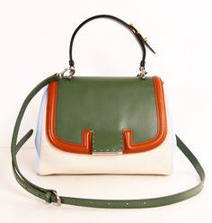 Multicolor Top Handle Bag