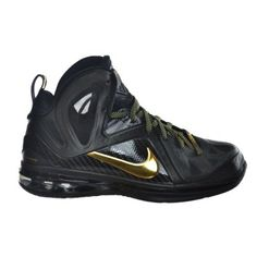 Nike Lebron 9 P.S. Elite Men\u0026#39;s Basketball Shoes Black/Gold Black/Gold 516958-