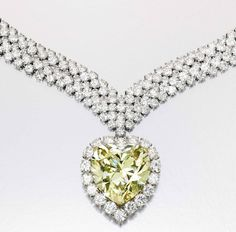 47Ct Yellow Diamond 'The Windsor Heart' #VintageJewelry