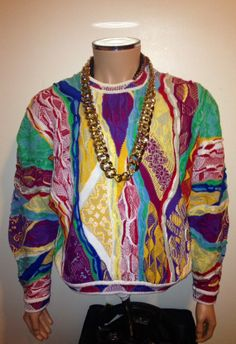 Vtg 1990s COOGI Classic BOLD Multicolor Sweater  by FisforFRESH, $100.00 #coogi #90s