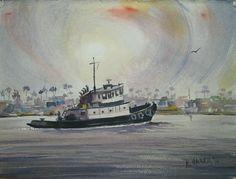 Newport Harbor tug, $250.