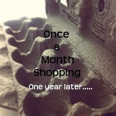 Once a month shopping: One year later. Read testimonies from all varieties of families and how they changed their shopping habits over the course of a year. References from original posts giving tips on shopping monthly, planning menus, and making mostly homemade foods.  From Where the Walnut Tree Grows blog.