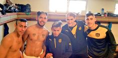 Peñarol academy players follow the club tradition after being promoted to first team