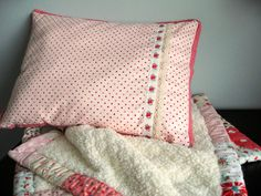 https://flic.kr/p/4HNCbf | rosy little pillow | for Olivia's bassinet