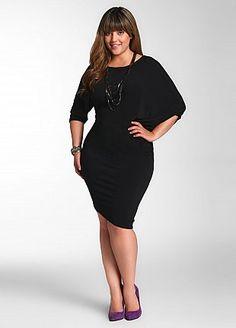 Ashley Stewart: Solid Stretch Dress