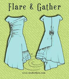 well-suited: Pattern Puzzle - Flare and Gather Dress