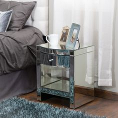 Christopher Knight Home Roxie Mirrored Nightstand