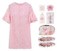 """""""I Wear Pink For Love"""" by sweetpastelady ❤ liked on Polyvore featuring Forever 21, Oasis, RMK, Crabtree & Evelyn and H&M"""