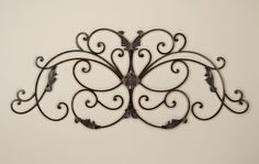 Fairview Rectangle or Arch Iron Scroll Grille Tuscan Wall Decor, Wrought Iron Wall Decor, Window Grill, Metal Art, Bedroom Decor, Design Inspiration, House Design, Iroquois, Grills