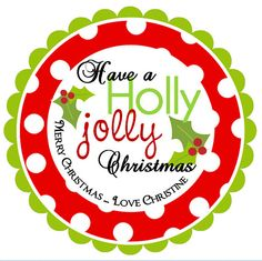 Personalized Holly Jolly Christmas stickers by maxandbella on Etsy, $5.95