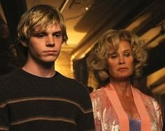 American Horror Story - Evan Peters and Jessica Lange. Both back for season 2!