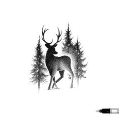 'THE DEER & THE TREES' ✏