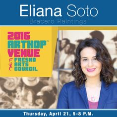 """This month we're featuring, """"Bracero Paintings,"""" from local artist, Eliana Soto. We've also got the, """"Bittersweet Harvest: The Bracero Program 1942 - 1964,"""" from the Smithsonian Institution Traveling Exhibition Service. Both exhibits are available for viewing in the Open Computer Lab in Academic Center Building One (AC1). #Art #ArtHop #BraceroPaintings"""