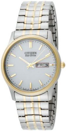 Citizen Mens BM8454-93A Eco-Drive Flexible Band Two-Tone Watch