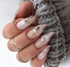 114 top newest homecoming nails designs page 22 Frensh Nails, Dope Nails, Nail Manicure, Swag Nails, Hair And Nails, Almond Acrylic Nails, Best Acrylic Nails, Acrylic Nail Designs, Fabulous Nails