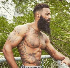 BeardUp// #alphablackmen #blackmen #alpha #guys #swag #dope #selfie #hunk  #atlanta #miami #dmv #newyork #la #london #paris #urban #eyecandy  #vibes  #beard #beardgang  #abs #shredz  #guyswithtattoos #heartbreaker #boyfriend #distinct