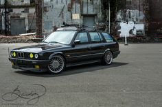 BMW E30 Touring with Alpina wheels