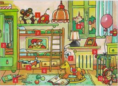 Qué hay en el cuarto de Diego?