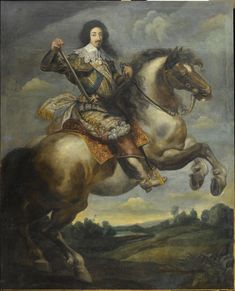 Equestrian portrait of Louis XIII, king of France (1601-1643), attributed to Claude Deruet (1588-1660), Versailles, châteaux de Versailles et de Trianon © RMN (Château de Versailles) / Gérard Blot