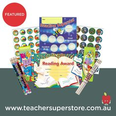 FEATURED: CBCA Book Week Merit & Awards  Find our selection of reading themed merit and awards which can be used during the CBCA Book Week in October. Classroom Supplies, Teaching Aids, Book Week, Secondary School, Teaching Materials, School Classroom, Awards, October, Stationery