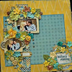 My Minds Eye, Prima, love, family, scrapbook layout. Please visit my blog for more inspiration. www.fromtheowlsnest.wordpress.com