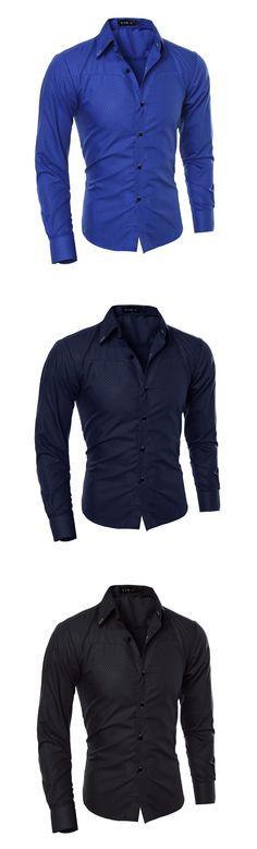 Men's Long Sleeve Dress Shirt 2017 Men's Fashion Luxury Temperament Plus Size Mens Designer Shirts Mens Shirts Casual Slim Fit