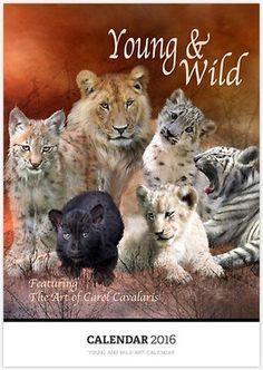 Young And Wild Art Calendar featuring the art of Carol Cavalaris.