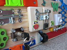 Personalized Busy Board Toy for Toddler Sensory Children