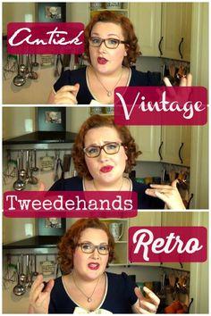 Wat is het verschil tussen retro, vintage, antiek en tweedehands?
