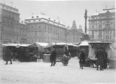 Am Hof, um 1900 per Wien Nostalgie FB History Of Germany, Austro Hungarian, German Army, Old City, Hungary, Maui, Austria, Switzerland, Photographs