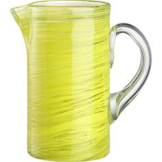 Yellow Zest Pitcher from Crate and Barrel