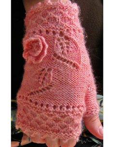 Miss Myrtle Fingerless Mitts Fingerless Gloves Crochet Pattern, Fingerless Gloves Knitted, Mittens Pattern, Knit Mittens, Knitting Socks, Hand Knitting, Knitting Patterns, Crochet Patterns, Bead Crochet
