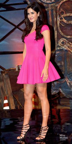 Katrina Kaif sure is one leggy lass - showing off her sexy legs in a short mini dress. Bollywood Actress Hot Photos, Indian Bollywood Actress, Indian Actress Hot Pics, Bollywood Girls, Most Beautiful Indian Actress, Beautiful Bollywood Actress, Bollywood Fashion, Indian Actresses, Katrina Kaif Bikini