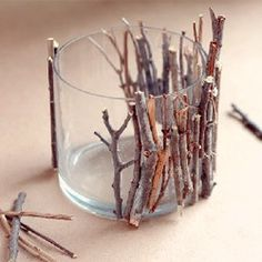twig candle holder