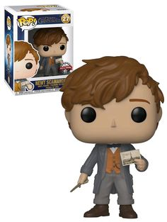 Fantastic Beasts The Crimes Of Grindelwald Newt Scamander (With Postcard) - New, Mint Condition - Funko Objet Harry Potter, Harry Potter Pop, Funko Pop Display, Funk Pop, Fantastic Beasts 2, Pop Figurine, Crimes Of Grindelwald, Pop Toys, Pop Collection