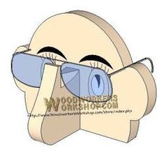 05-WP-023 - Eyeglasses Stand Downloadable Scrollsaw Woodworking Plan PDF
