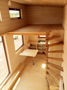New cabin loft stairs design ideas Tiny House Stairs, Tiny House Loft, Loft Stairs, Tiny House Living, Tiny House Plans, Tiny House Design, Loft Design, Design Design, Tree House Designs