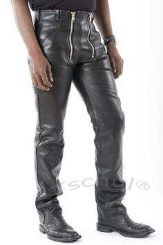Lederhose Taille 30 Cargo En Cuir Pantalons//Cuir Pants Gay Pantalon//biker trousers